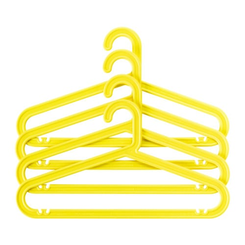 Sprutt clothes hanger yellow ikea for Ikea clothes hangers