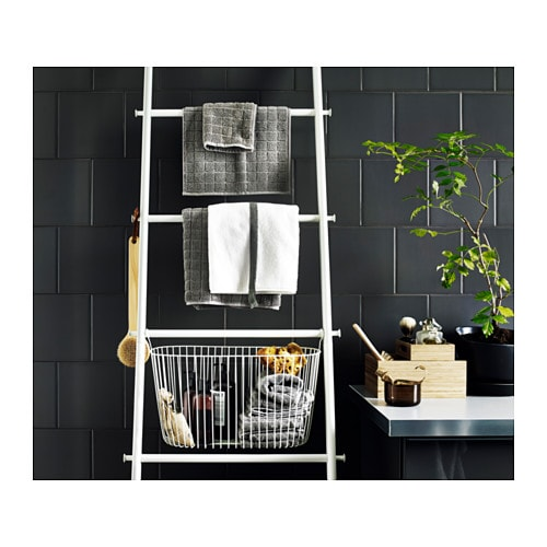 Sprutt towel holder white 190 cm ikea Towel storage ideas ikea