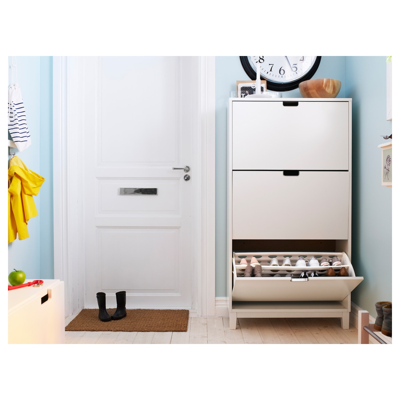 IKEA STÄLL shoe cabinet with 3 compartments