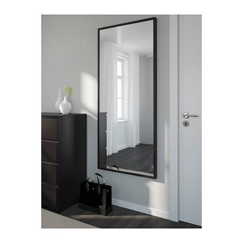 Stave mirror black brown 70x160 cm ikea for Spiegel 40x160