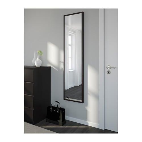 Stave Mirror Black Brown 40x160 Cm Ikea