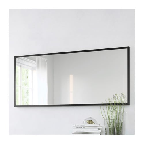 Stave mirror black brown 70x160 cm ikea for Miroir ikea stave