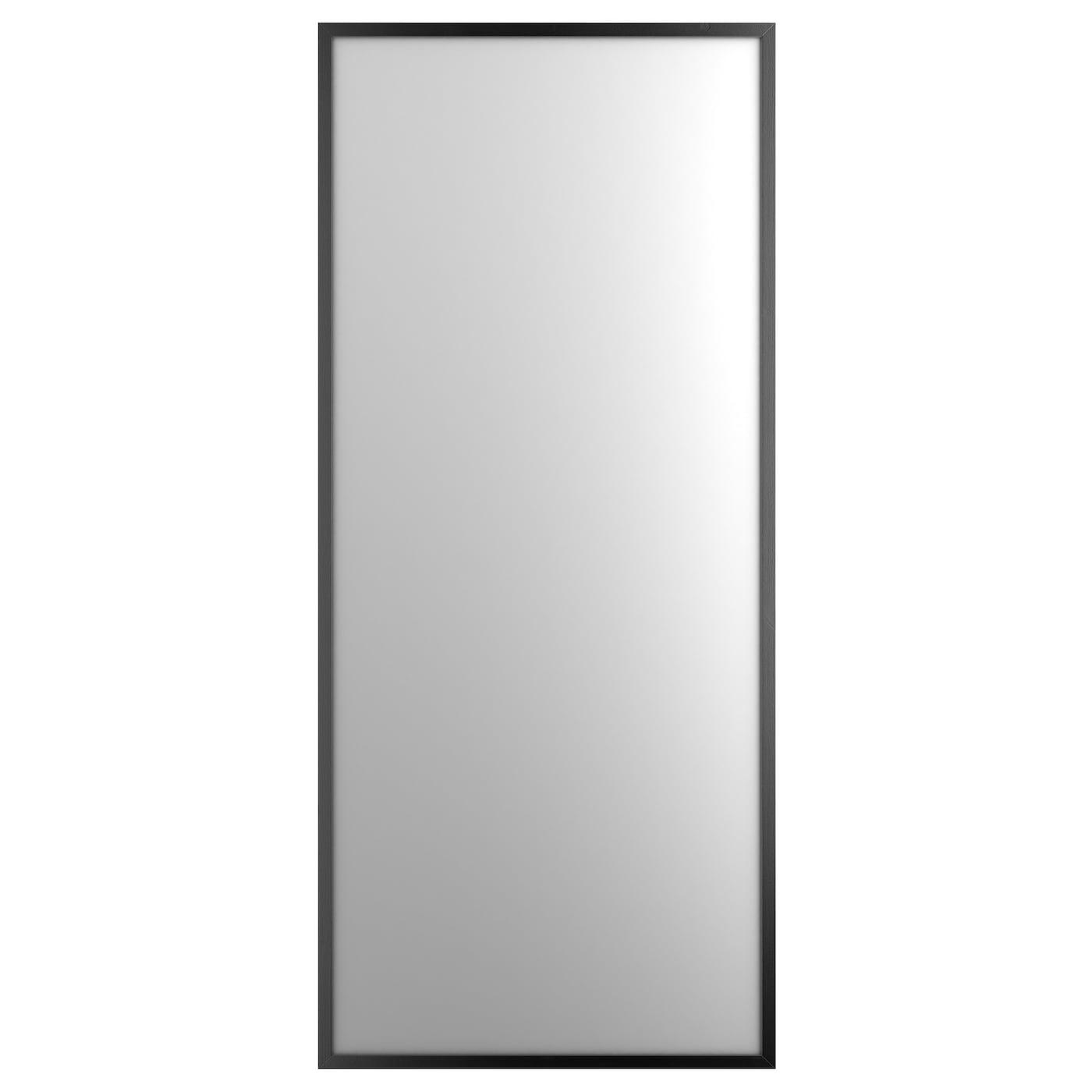 Stave mirror black brown 70x160 cm ikea for Miroir eclairant ikea