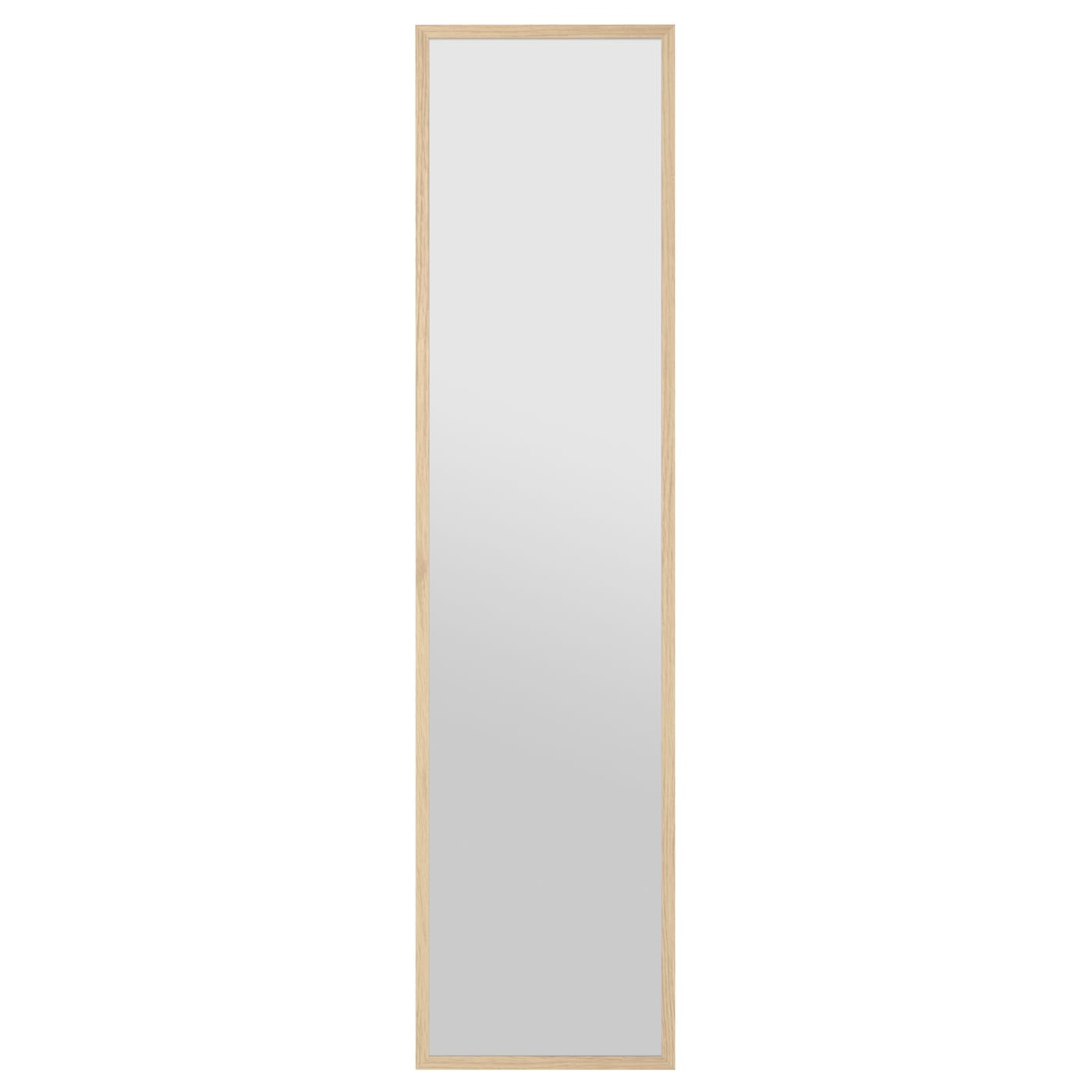 Stave mirror white stained oak effect 40x160 cm ikea for Miroir 110 x 90