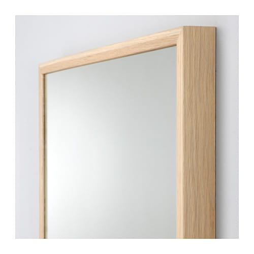 Stave mirror white stained oak effect 70x160 cm ikea for Miroir ikea stave