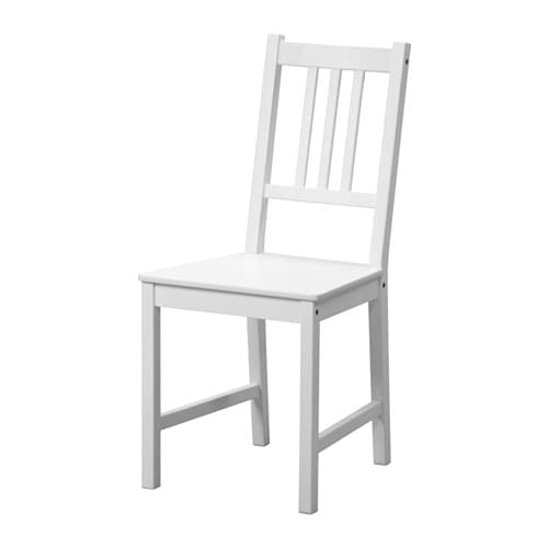STEFAN Chair White IKEA : stefan chair white0456421pe604075s4 from www.ikea.com size 500 x 500 jpeg 13kB