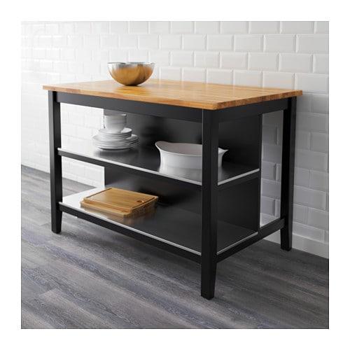 STENSTORP Kitchen island Black brown oak 126×79 cm  IKEA