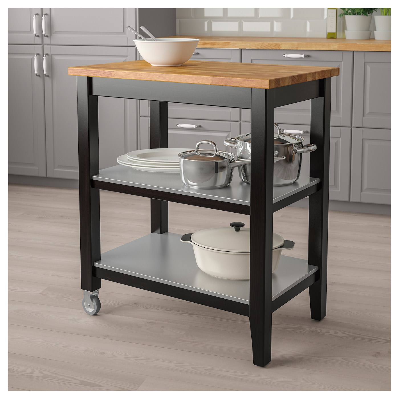 Amazing IKEA STENSTORP Kitchen Trolley Gives You Extra Storage In Your Kitchen.