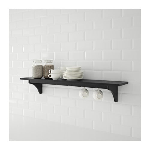 Stenstorp wall shelf black brown 120 cm ikea for Ikea stenstorp ka cheninsel