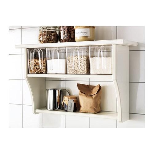 Ikea Kitchen Shelf: STENSTORP Wall Shelf With Drawers White 60x37 Cm