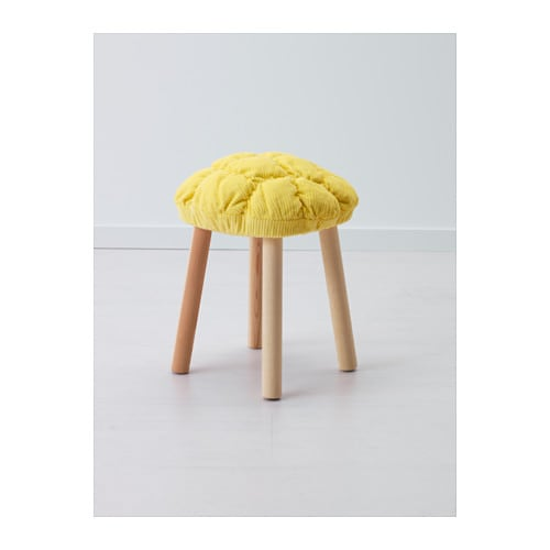 IKEA STICKAT stool cover The stool cover is nice and soft to sit on, and adds a splash of colour.