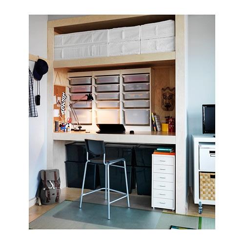 Stig Bar Stool With Backrest Black Silver Colour 63 Cm Ikea
