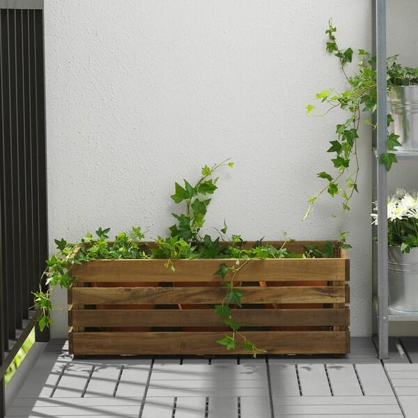 STJÄRNANIS flower box outdoor acacia 75 cm 27 cm 27 cm