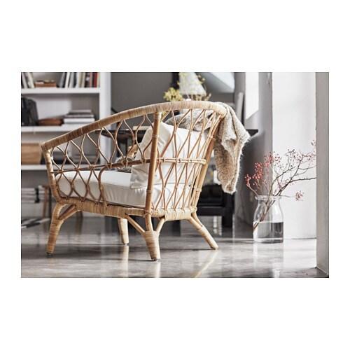 stockholm 2017 armchair with cushion rattan sandbacka dark grey ikea. Black Bedroom Furniture Sets. Home Design Ideas