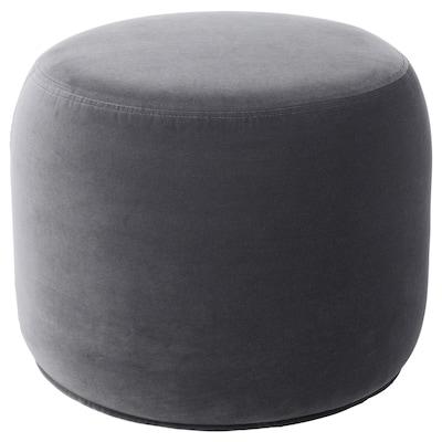 STOCKHOLM 2017 Pouffe, Sandbacka dark grey, 50x50 cm