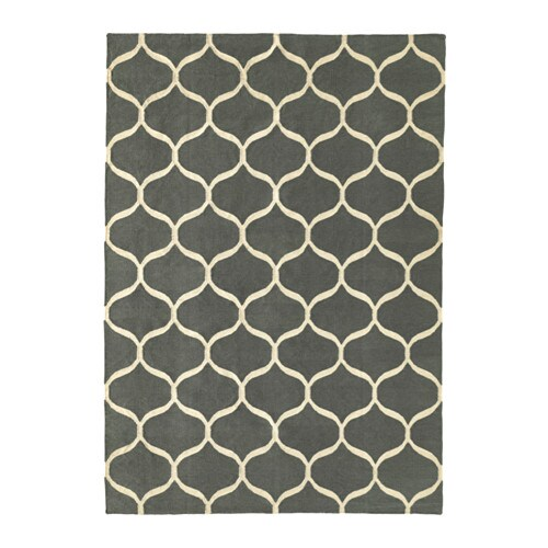 Stockholm 2017 rug flatwoven handmade net pattern grey for Ikea outdoor teppich