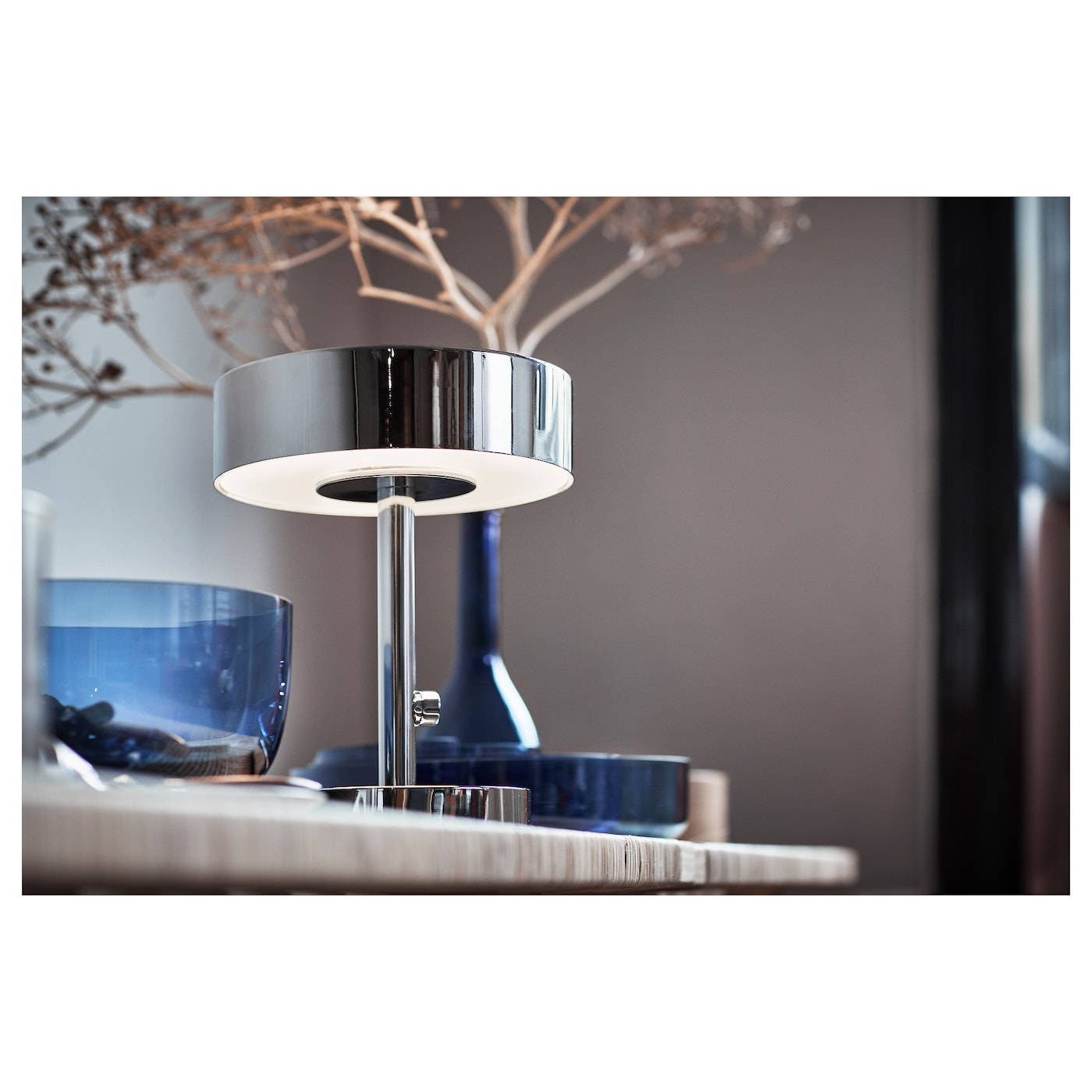 IKEA STOCKHOLM 2017 table lamp Integrated dimmer, to give general light or mood light.