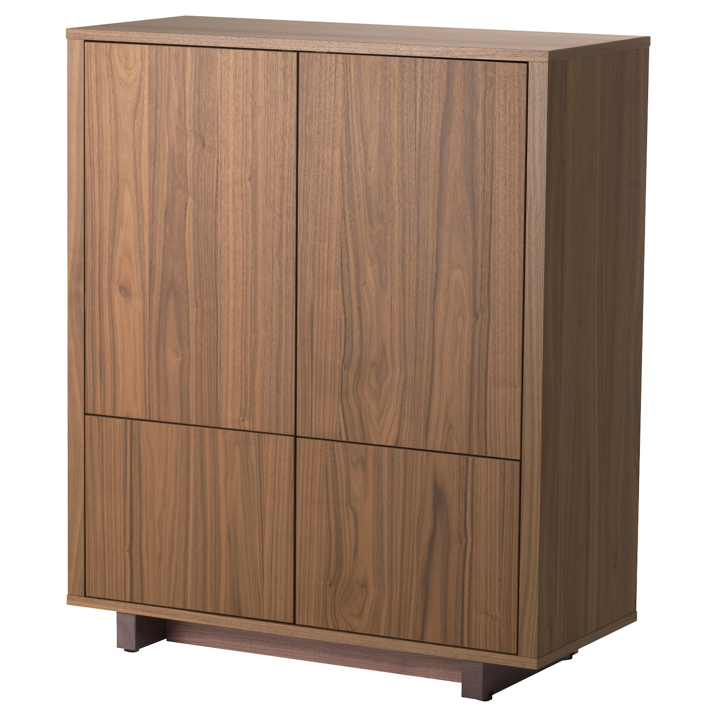 stockholm cabinet with 2 drawers walnut veneer 90x107 cm. Black Bedroom Furniture Sets. Home Design Ideas