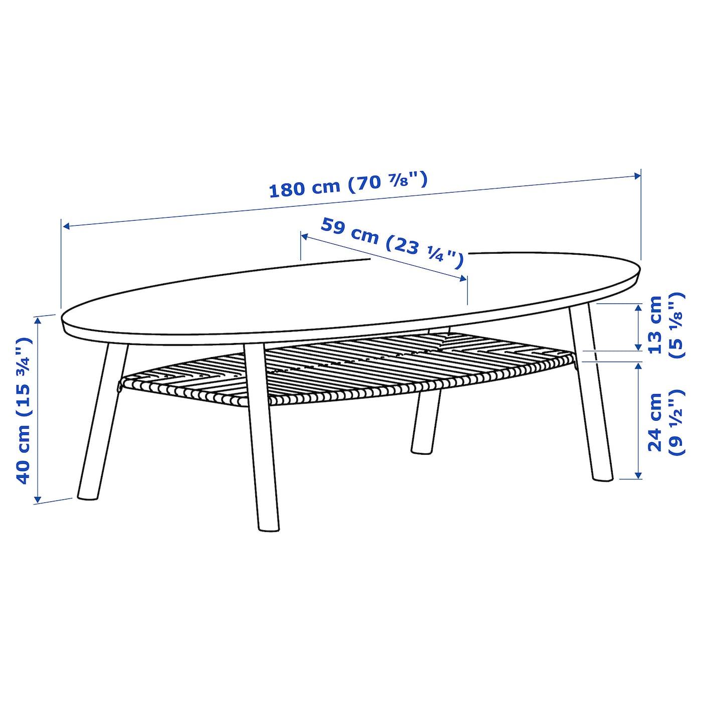 Stockholm Coffee Table Walnut Veneer 180x59 Cm Ikea Ireland [ 1400 x 1400 Pixel ]