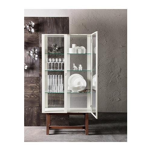 Aspelund Ikea Kleiderschrank ~ STOCKHOLM Glass door cabinet Beige 90×180 cm  IKEA
