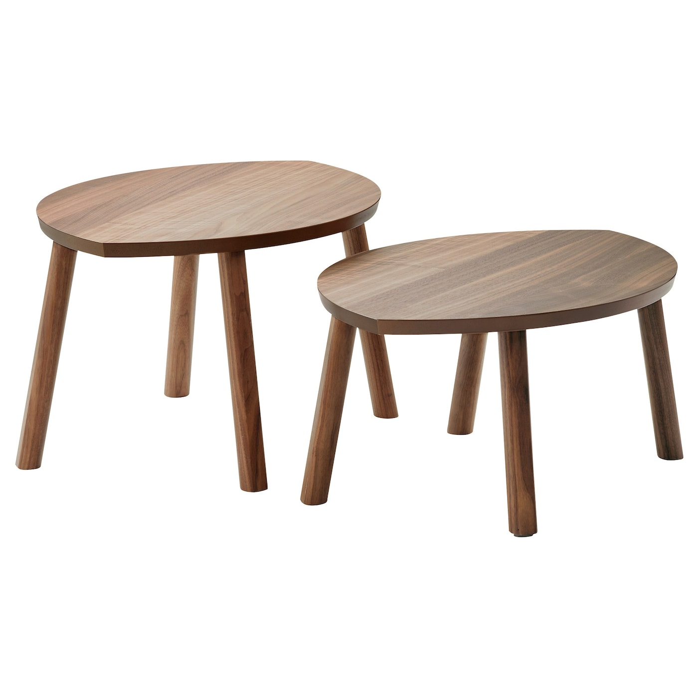 stockholm nest of tables set of 2 walnut veneer ikea. Black Bedroom Furniture Sets. Home Design Ideas