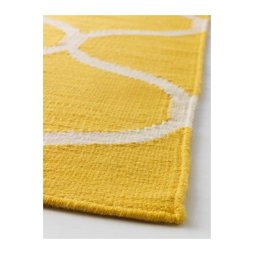 STOCKHOLM Rug, flatwoven Handmadenet pattern yellow