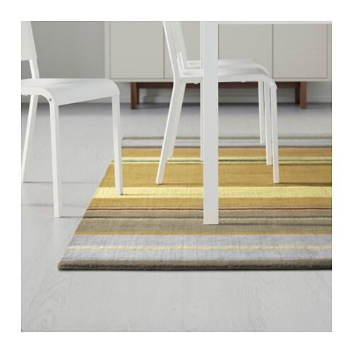 stockholm rug low pile handmade yellow 170x240 cm ikea. Black Bedroom Furniture Sets. Home Design Ideas