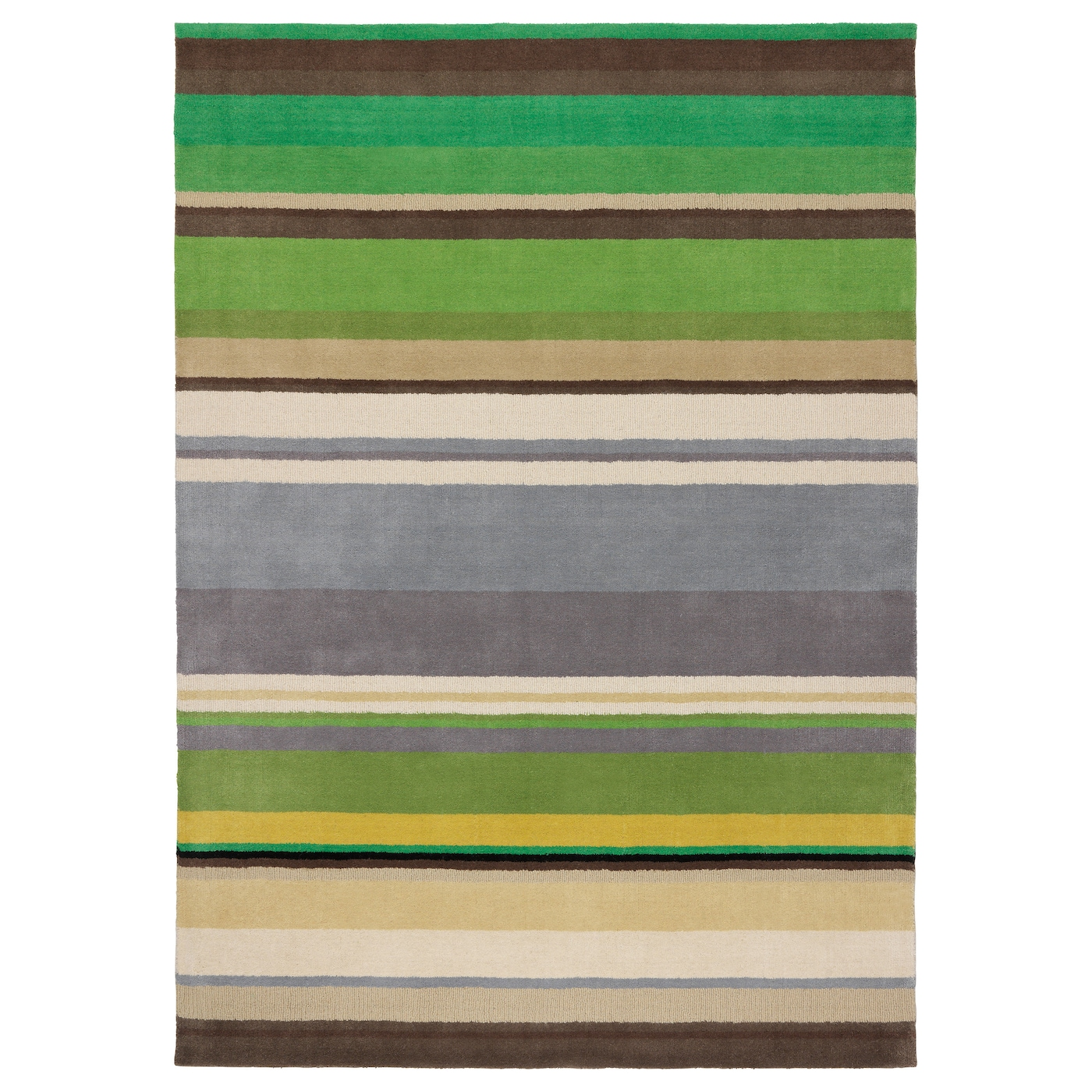 Stockholm rug low pile handmade green 170x240 cm ikea for Ikea rugs