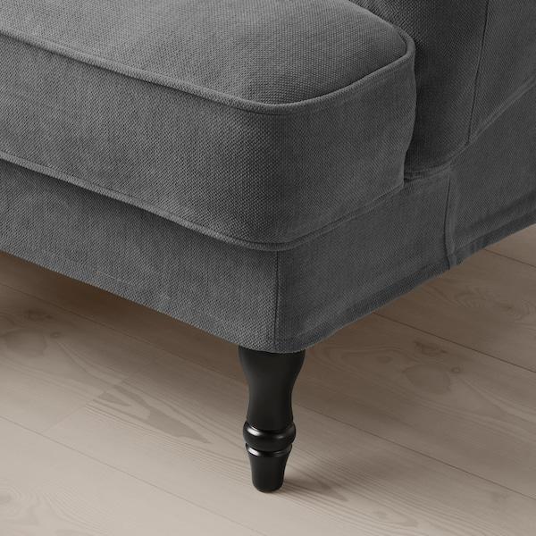 STOCKSUND Armchair, Tallmyra medium grey/black/wood