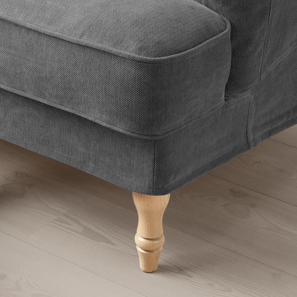 STOCKSUND Armchair, Tallmyra medium grey/light brown/wood