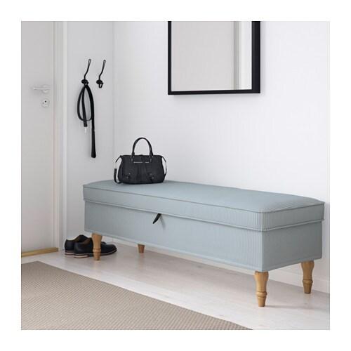 stocksund bench remvallen blue white light brown wood ikea. Black Bedroom Furniture Sets. Home Design Ideas