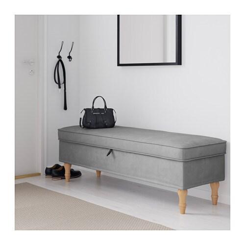 Stocksund bench tallmyra grey light brown wood ikea for Divanetti ikea
