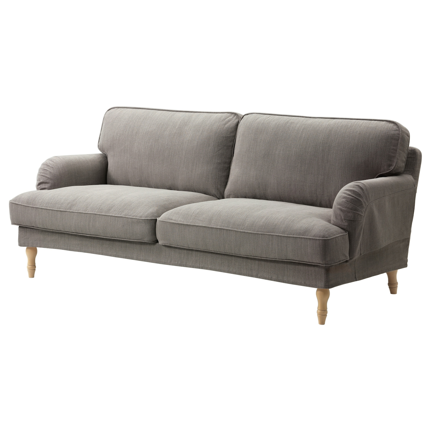 Stocksund three seat sofa nolhaga grey beige light brown for Ikea gray sofa