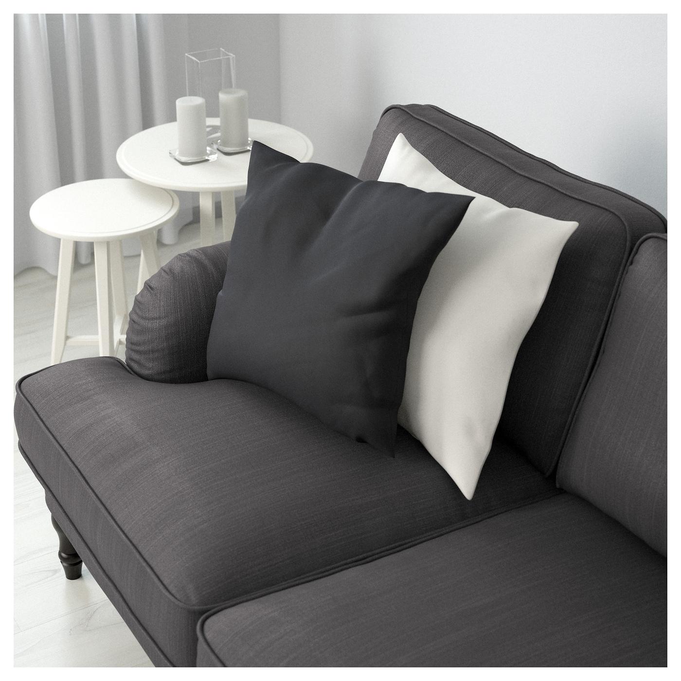 Swayde Blue Ikea Sofa: STOCKSUND Two-seat Sofa Nolhaga Dark Grey/black/wood