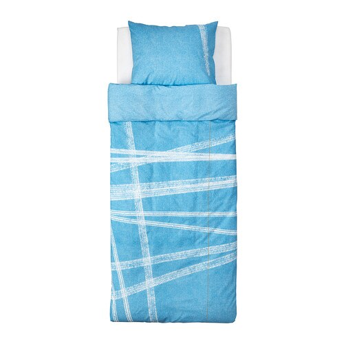 IKEA STOJIG quilt cover and pillowcase Cotton, soft and nice against your child's skin.