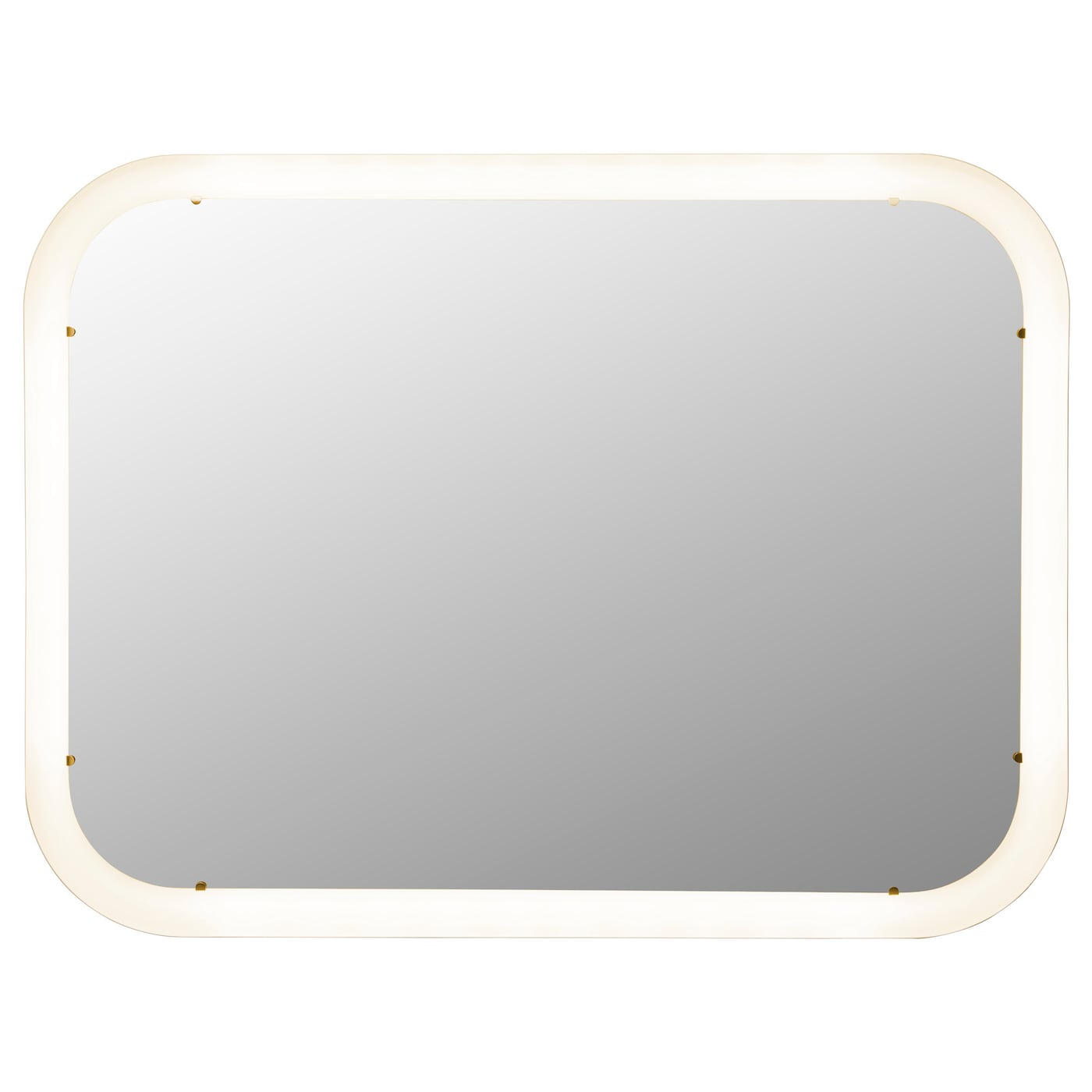 Storjorm mirror with integrated lighting white 80x60 cm ikea for Miroir rond ikea