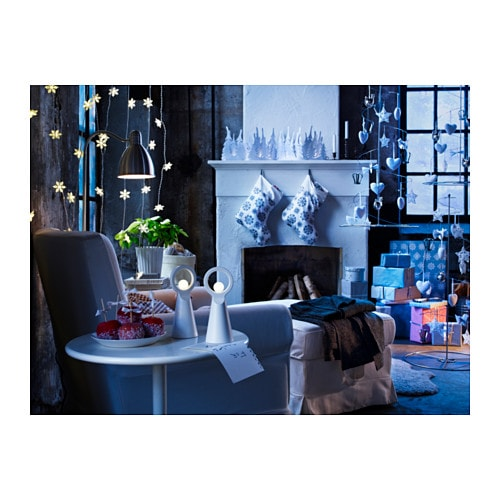 Str la led table decoration tree white battery operated ikea for Ikea tableau decoration