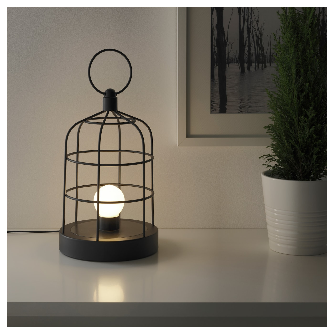 IKEA STRÅLA LED lantern Gives a warm, cosy glow and spreads the holiday atmosphere in your home.