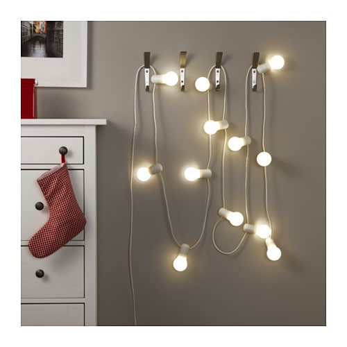 str la led lighting chain with 12 bulbs frosted ikea. Black Bedroom Furniture Sets. Home Design Ideas