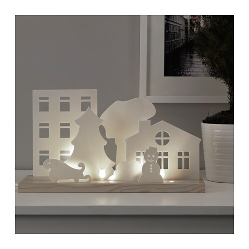Str la led table decoration houses ikea - Ikea tableau decoration ...