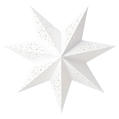 STRÅLA Lamp shade, lace/white, 48 cm