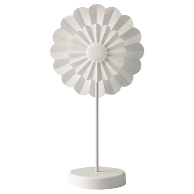 STRÅLA LED table decoration, battery-operated/flower