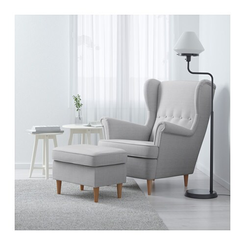 strandmon footstool nordvalla light grey ikea. Black Bedroom Furniture Sets. Home Design Ideas