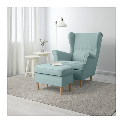 strandmon footstool skiftebo light turquoise ikea. Black Bedroom Furniture Sets. Home Design Ideas