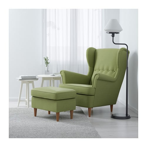 Strandmon Wing Chair Skiftebo Green Ikea