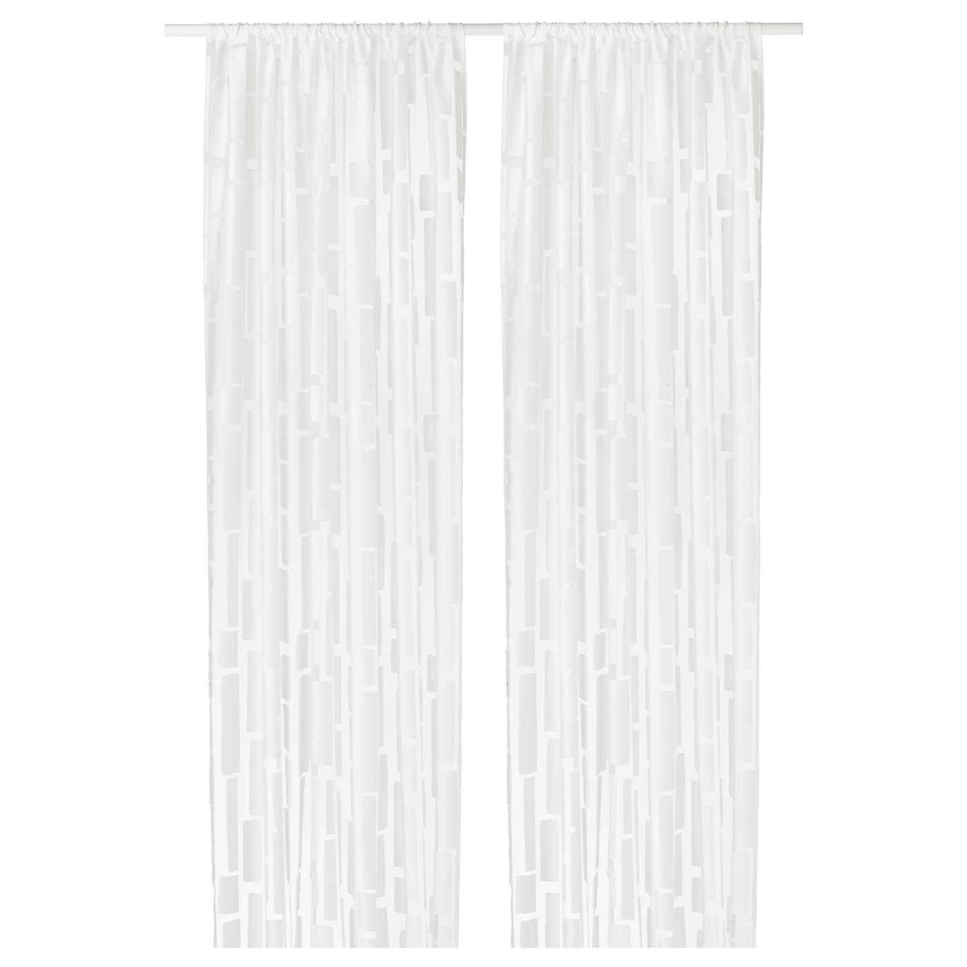 IKEA STRANDRÅG sheer curtains, 1 pair