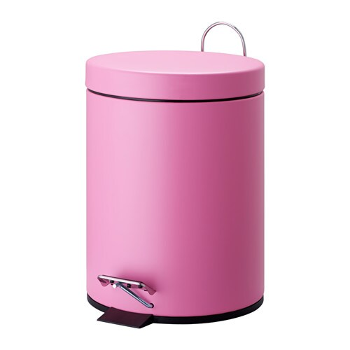 Strapats pedal bin pink 5 l ikea - Poubelle recyclage ikea ...