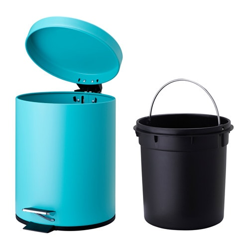 Ikea strapats pedal bin the bin is easy to move since it for Turquoise bathroom bin