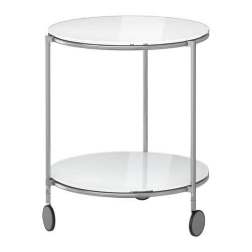 IKEA STRIND side table The castors make it easy to move the table if needed.