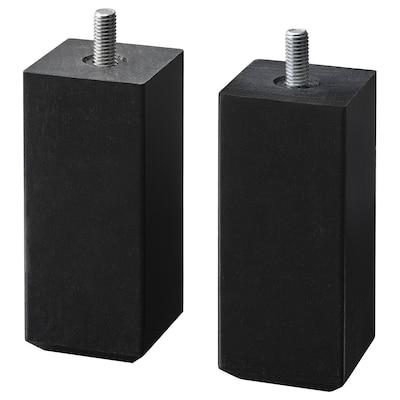 STUBBARP leg black-brown 44 mm 44 mm 100 mm 10 cm 11 cm 2 pack